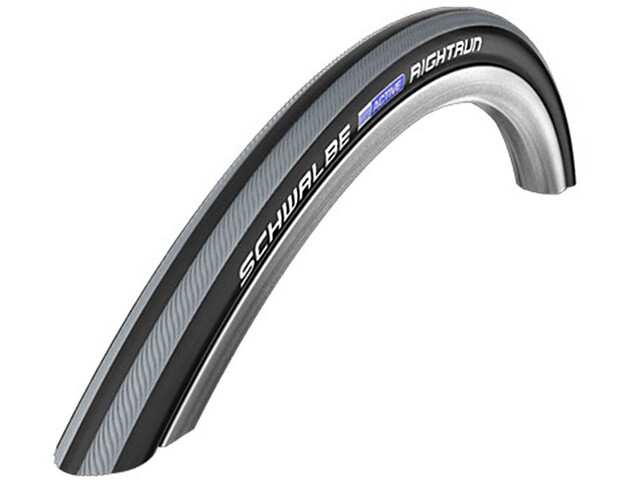 "SCHWALBE Rightrun Active Clincher Tyre 20x1.00"" for Wheelchair, black/grey stripes"